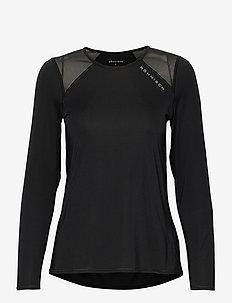 Asta Mesh Long Sleeve - bluzki z długim rękawem - black