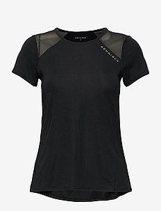 Asta Mesh Tee - t-shirty - black