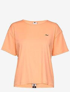 Logo Ribbed Tee - t-shirts - cantaloupe