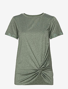 Jolie Knot Tee - t-shirty - forest melange