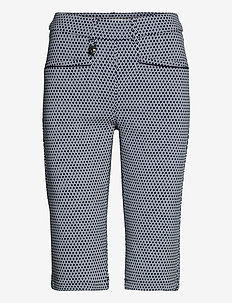 Smooth Pirat - golfshorts - navy/fog check