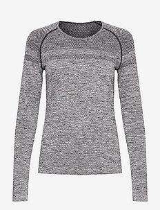 Emma Seamless Long Sleeve - topjes met lange mouwen - grey melange