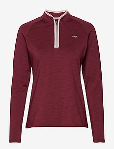 Heat half zip - sweatshirts - burgundy