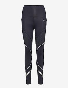 SHAPE CURVED LONG T - compression tights - black dot gel