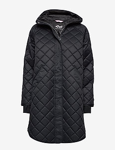 Double Quilt Jacket - BLACK