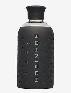 SMALL GLASS BOTTLE 400 ml - water bottles - black/silver