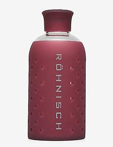 SMALL GLASS BOTTLE 400 ml - water bottles - burgundy