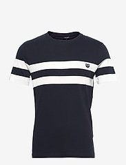Ron Dorff - T-SHIRT RD Chest Stripes - korte mouwen - navy - 0