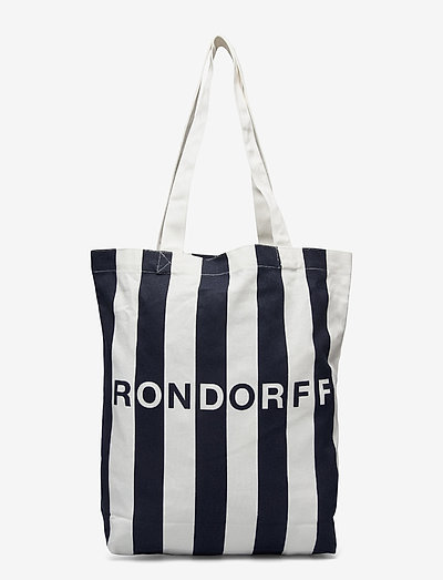 TOTE BAG RON DORFF - shoppers - navy / white
