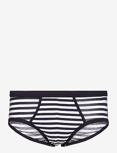 Y-FRONT BRIEFS Horizontal Stripes - underkläder - navy / white