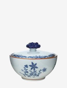 Ostindia Bowl with lid 35 cl - kulhot - white