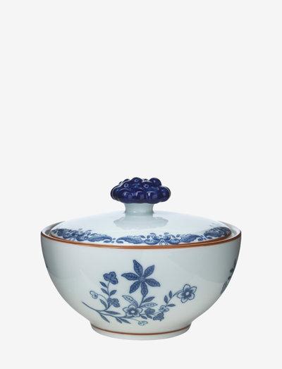 Ostindia Bowl with lid 35 cl - sokerikulhot - white