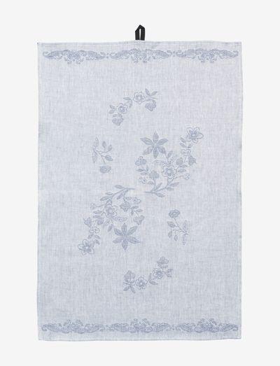 Ostindia tea towel 47x70cm - keittiöpyyhkeet - blue