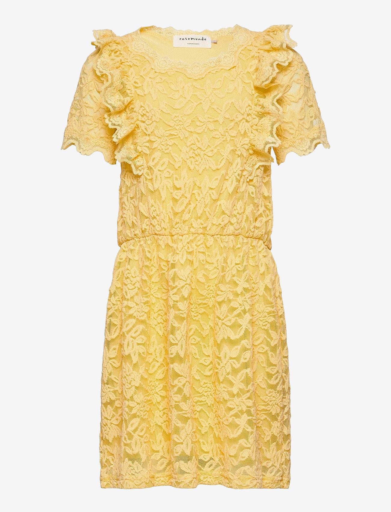 Rosemunde Kids - Dress ss - kleider - vanilla yellow - 0