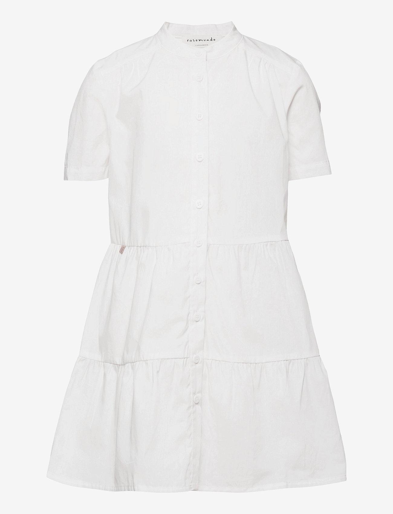 Rosemunde Kids - Organic cotton dress ss - kleider - new white - 0