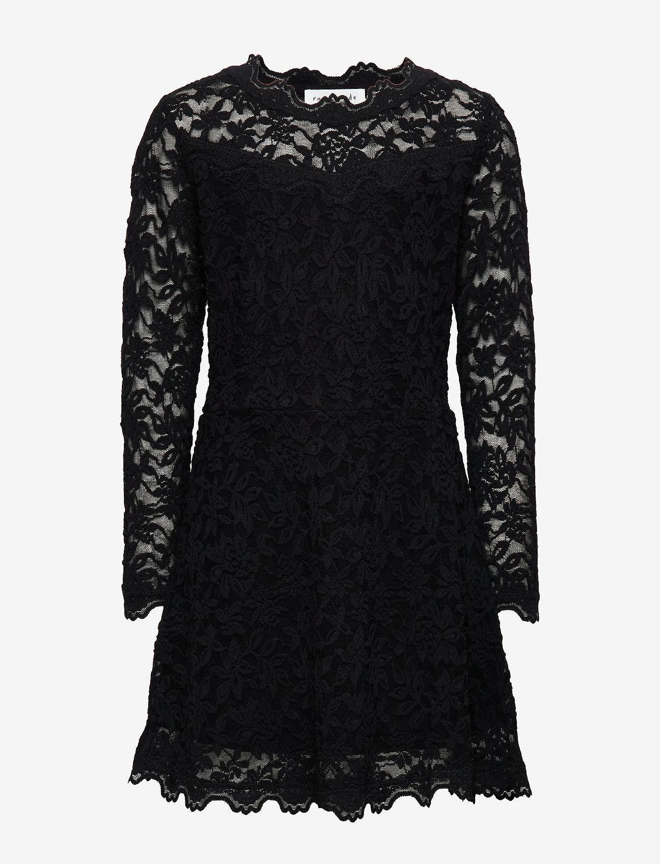 Rosemunde Kids - Dress ls - kleider - black - 0