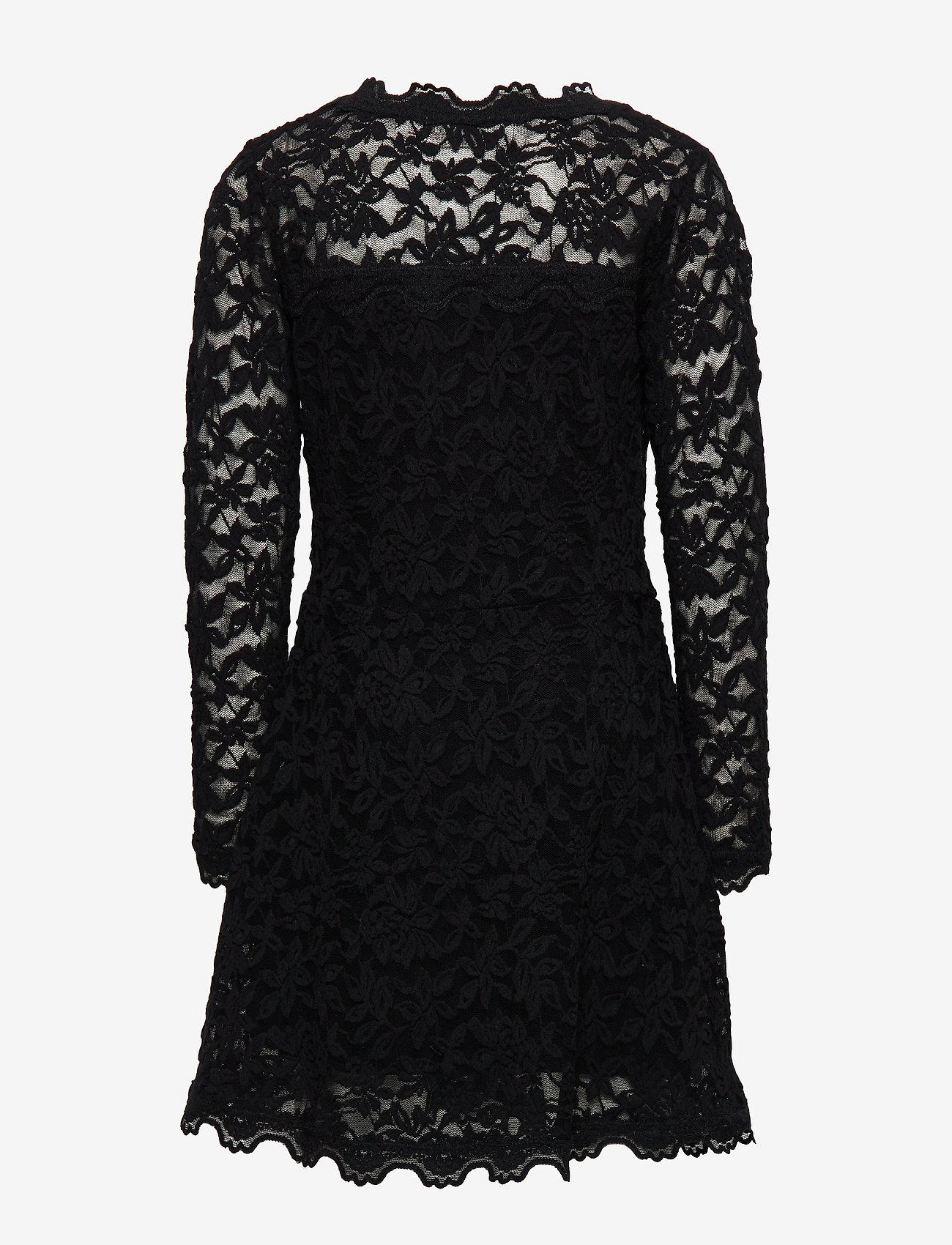 Rosemunde Kids - Dress ls - kleider - black - 1
