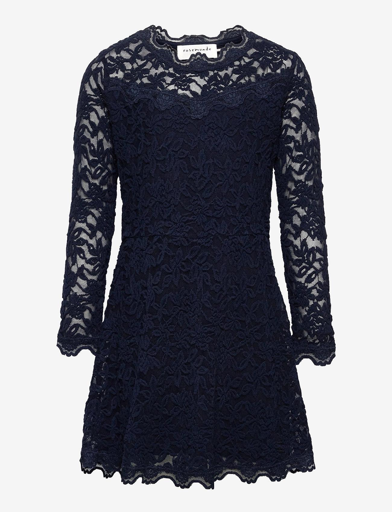 Rosemunde Kids - Dress ls - kleider - dark blue - 0