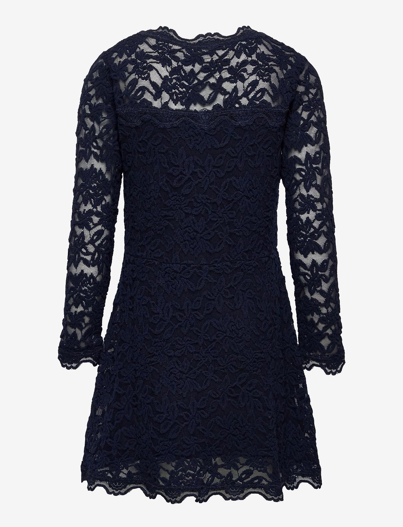 Rosemunde Kids - Dress ls - kleider - dark blue - 1