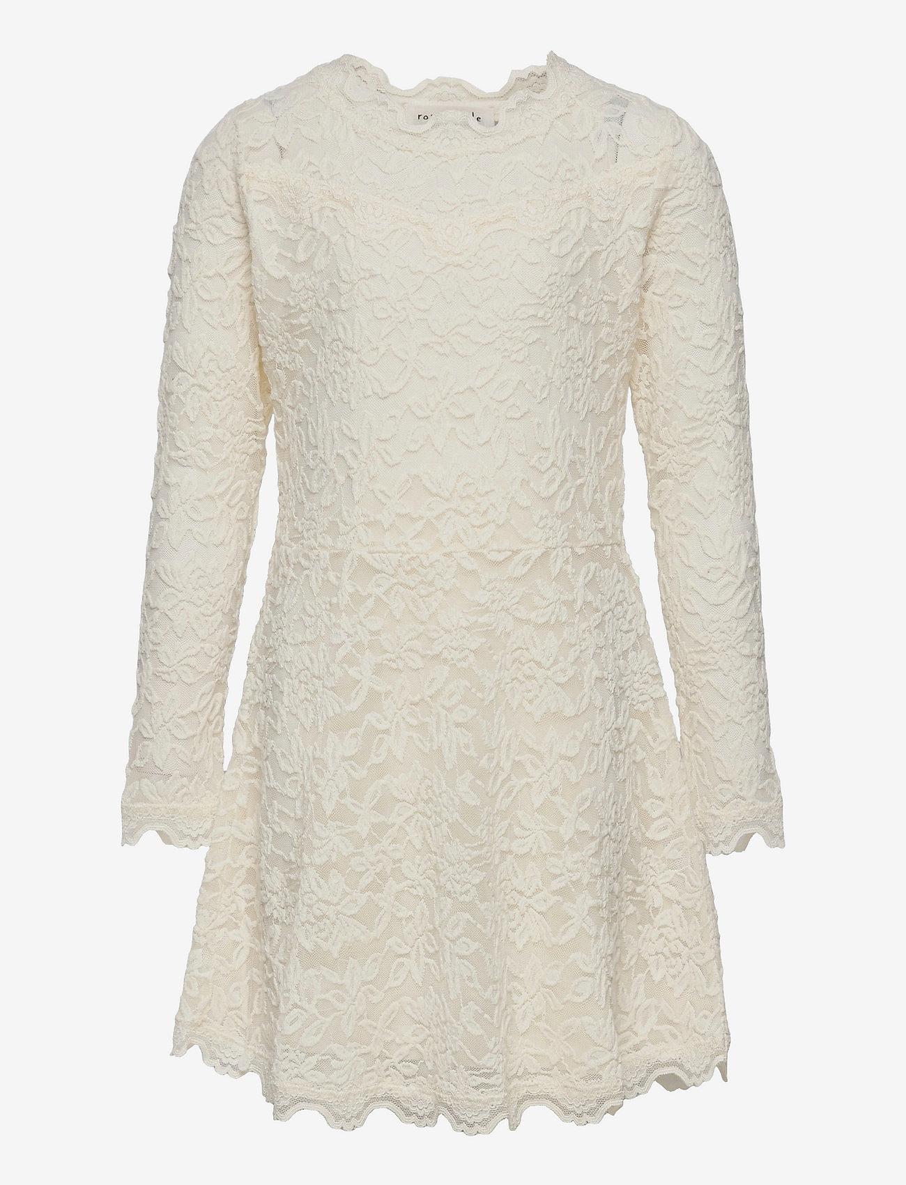 Rosemunde Kids - Dress ls - kleider - ivory - 0