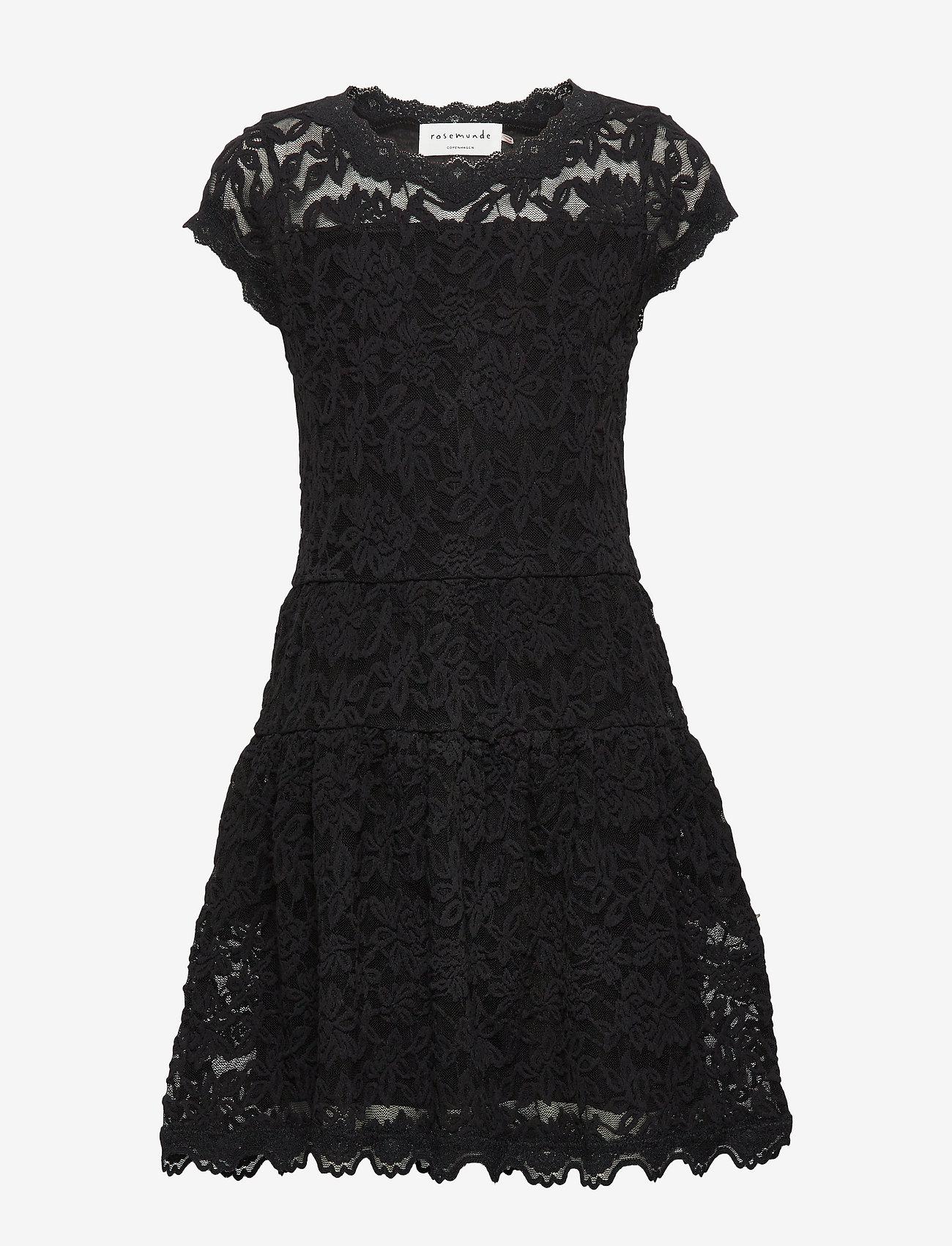 Rosemunde Kids - Dress ss - kleider - black - 0