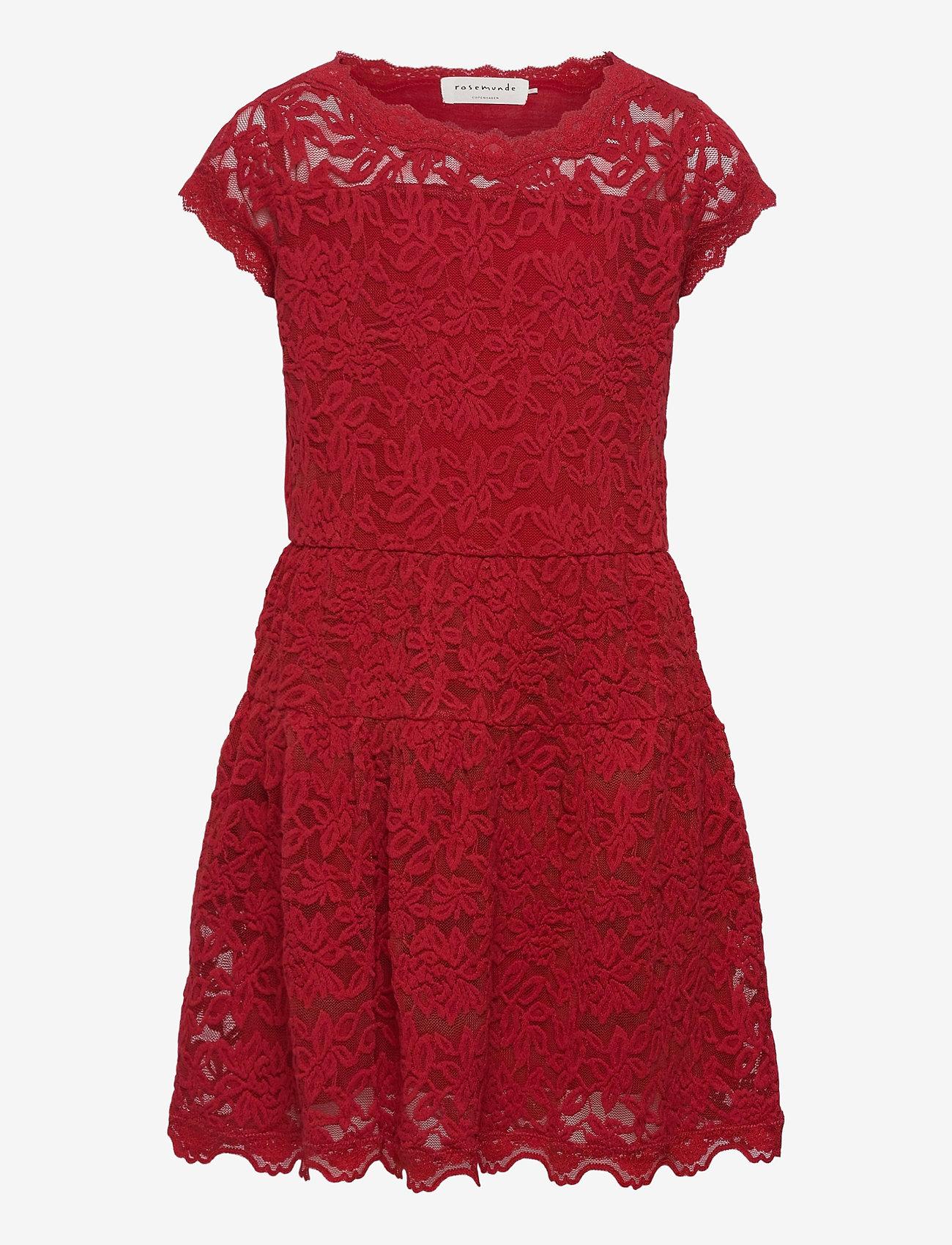 Rosemunde Kids - Dress ss - kleider - cranberry - 0