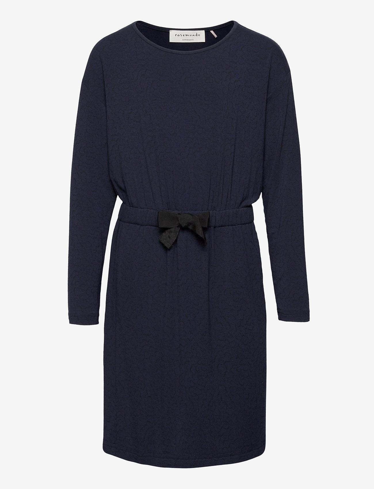 Rosemunde Kids - Dress ls - robes - blue whirlwind print - 0