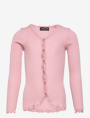 Silk cardigan regular ls w/ lace - ZEPHYR ROSE