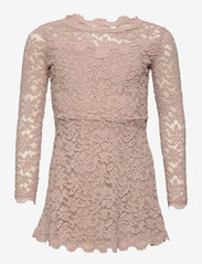 Rosemunde Kids - Dress ls - kleider - vintage powder - 0