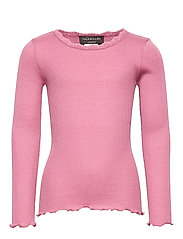 Silk t-shirt regular ls w/ lace - MESA ROSE
