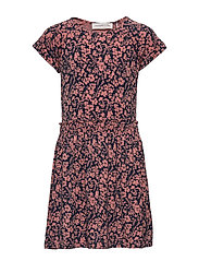 Dress ss - TERRACOTTA SMALL FLORAL PRINT