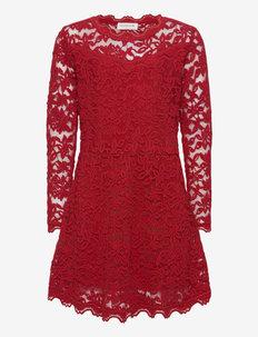 Dress ls - kleider - cranberry
