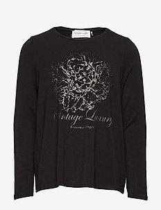 T-shirt ls - VINTAGE LUXURY PRINT