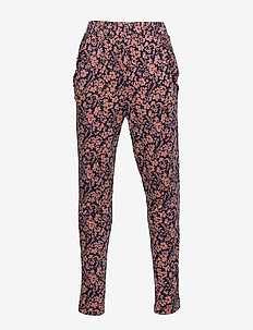 Trousers - TERRACOTTA SMALL FLORAL PRINT