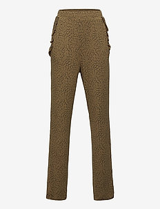 Trousers - pantalons - green whirlwind print