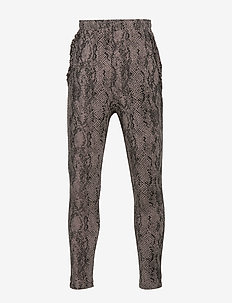 Trousers - GREY PYTHON PRINT