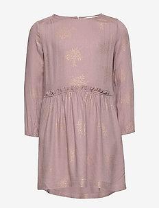 Dress ls - VINTAGE GOLD FOIL BOUQUET PRINT