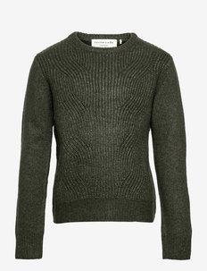 Pullover ls - jumpers - dark pine blend