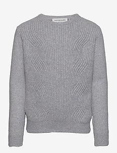 Pullover ls - strikkevarer - light blue purple blend