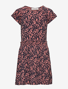 Dress ss - kleider - terracotta small floral print