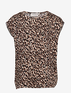 Blouse ss - BROWN SHADOW LEOPARD PRINT