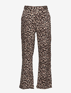 Trousers - BROWN SHADOW LEOPARD PRINT