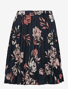 Skirt - röcke - navy spring blossom print