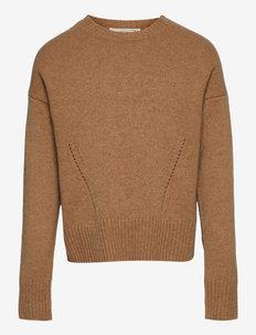 Pullover ls - jumpers - light almond melange