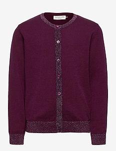 Cardigan ls - cardigans - potent purple shimmer blend