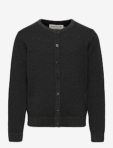 Cardigan ls - cardigans - dark grey shimmer