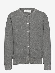 Cardigan ls - koftor - light grey melange