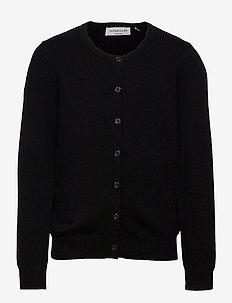Cardigan ls - cardigans - black