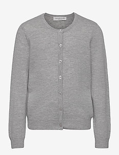 Cardigan ls - gilets - light grey melange