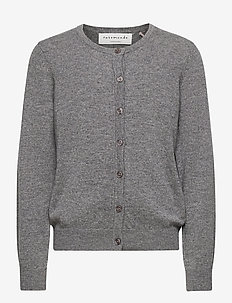 Cardigan ls - gilets - medium grey melange